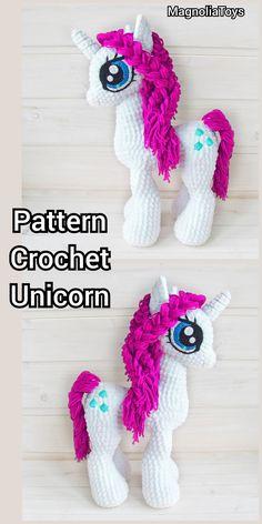 Crochet Horse, Crochet Unicorn, Crochet Animals, Crochet Baby, Knit Crochet, Amigurumi Toys, Crochet Patterns Amigurumi, Fingerless Gloves Crochet Pattern, Sea Creatures