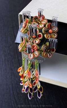 Japanese hair accessory for kimono by Himeko つまみ細工「春告姫(Harukokuhime)」 This is a Japanese traditional crafts that use the silk, is a hair ornament and Accessories  was designed flowers. ●silkartHIMEKO facebookpage https://ja-jp.facebook.com/himekosilkart  ●silkart HIMEKO URL http://www.himeko-silkart.com/  #tsumami #japan #handmade #art #craft #pretty #cute #hairaccessories #DIY #flowers #silk #kanzashi