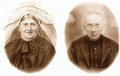 """patries71 Flickr.   oudjes  This picture of my great grandparents was taken early in the 1900`s by a streetphotographer. My great grandmother is wearing a """"poffer"""", the traditional headdress for women from my part of the Netherlands (noord-Brabant),"""