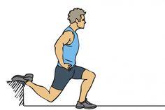 M Split una pierna trail running