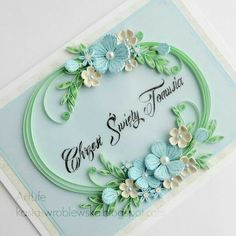 Beautiful Quilled Card
