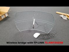 Building a wireless bridge with the TP-Link antenna TL-ANT2424B - YouTube Diy Shops, Tp Link, Wifi Router, Building, Youtube, Camping, Campsite, Wireless Router