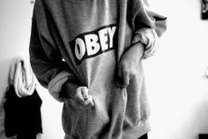 Sportychic | @uxueduarte #obey #sweater