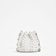 Image 2 of STUDDED BUCKET BAG from Zara