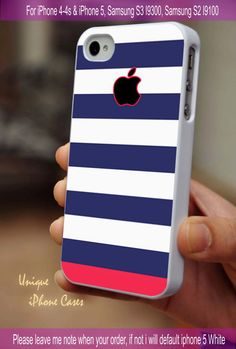 Blue Pink Stripes - iPhone 4 / iPhone 4S / iPhone 5 / Samsung S2 / Samsung S3 / Samsung S4 Case Cover