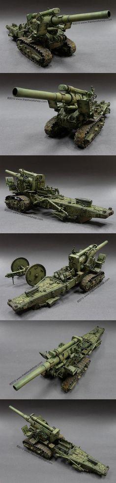 B4 203mm Howitzer 1/35 Scale Model