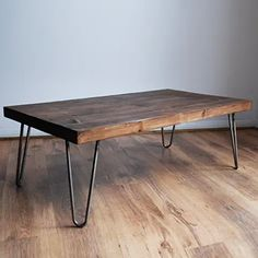 Amazon.co.uk : mid century dining table Rustic Wooden Coffee Table, Steel Coffee Table, Solid Wood Coffee Table, Diy Coffee Table, Modern Coffee Tables, Hairpin Leg Coffee Table, Hair Pin Coffee Table, Coffee Table Upcycle Ideas, Rustic Wooden Table