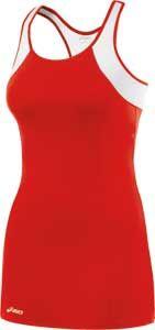 Asics Love Racerback Dress-Red/White $37.50