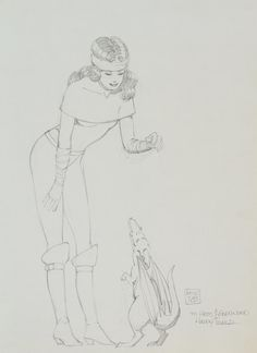 Kitty Pryde and Lockheed. Convention sketch 1983 http://ift.tt/SZ5L1Y pic.twitter.com/06xJlg75Ds