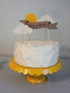 You Are My Sunshine Baby Shower - this cake is so sweet