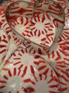 Peppermint Trays & Cutouts from Starlight Mints Round Candies ... melted in the oven on a cookie sheet at 350 for 8-10 minutes. With Tutorial !