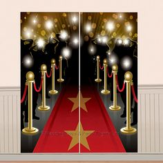 5ft Hollywood Theme Red Carpet Scene Setter Party Wall Decoration Photo Prop фото
