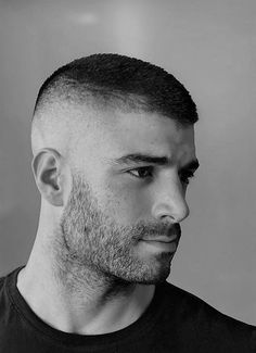 Classy Issues Inspo by Mux Jasper Bald Men With Beards, Bald With Beard, Great Beards, Very Short Hair Men, Short Hair Cuts, Short Hair Styles, Soldier Haircut, Shaved Head Styles, Bald Haircut