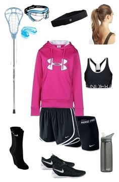 """""""Lacrosse Practice"""" by kickitap ❤ liked on Polyvore featuring NIKE, Under Armour, CamelBak, France Luxe, lululemon and Kickitapsets"""