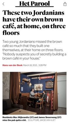 Brown Cafe, Three Floor, Amsterdam, Flooring, Building, Kitchen, House, Home Decor, Cooking