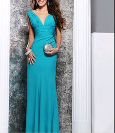 Chiffon V-neck Floor-length Formal Dress