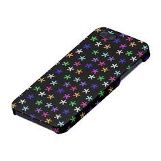 Black Colorful Jacks - iPhone 5 Case