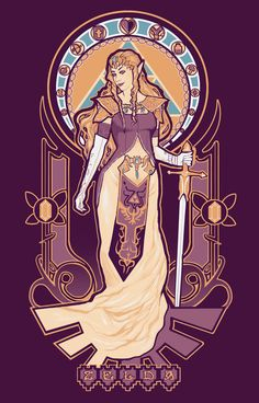 Wonderful art nouveau portraits of Nintendo's leading ladies by Megan Lara. Princess, your goombas are showing.
