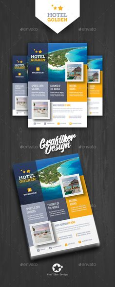 Hotel #Flyer Templates - Corporate Flyers Download here: https://graphicriver.net/item/hotel-flyer-templates/19515257?ref=alena994