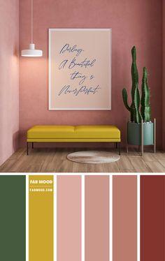 Orange Color Schemes, Orange Color Palettes, Color Schemes Colour Palettes, Earthy Color Palette, Bedroom Color Schemes, Colour Combinations Interior, Interior Color Schemes, Earthy Living Room, Living Room Colors
