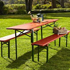 Beer garden table bench via cost plus world market worldmarket camping ideas tips for World market beer garden table