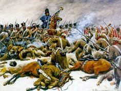 La défense de l'Aigle du 14e de ligne pendant la bataille d'Eylau par Lucien Rousselot