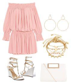 """Pink Summer Dress"" by vasilica-cor on Polyvore featuring moda, Norma Kamali, Venus, New Look e Natasha Schweitzer"