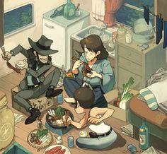 Miyazaki, Comic Character, Character Concept, Blade Runner, Lupin The Third, Animation, Animated Cartoons, Anime Figures, Manga Games