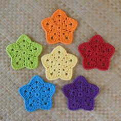 "I'm totally enamored with all things Granny! Since I've already designed two different Granny Hearts, I thought it was time to try a new shape! This very versatile motif makes a beautiful bunting, an adorable adornment, or a pretty perfect & fun set of coasters ^_^Technically this pattern is ""Intermediate"" because of the large variety of stitches used and the shaping. BUT, I have created a complete photo tutorial to take away the guess work! Plus, a full photo tutorial f..."