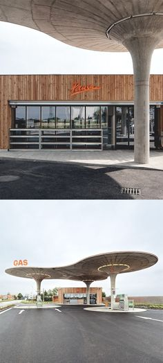 Gas station in Slovakia designed by Atelier SAD.