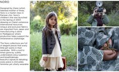 Noro Children and Baby Clothing - Elias and Grace Luxury Kids Clothes, French Outfit, Kids Boutique, Parisian Chic, Natural Looks, Kids Wear, Kids Fashion, Fashion Design, Doll Clothes