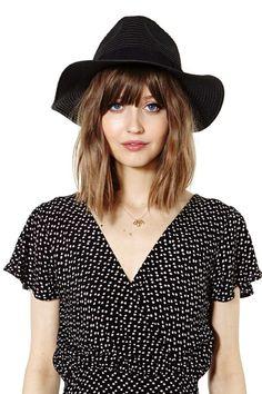 Adria Panama Hat - Black