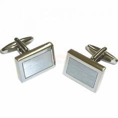Engraved Brushed Finish Cufflinks with Engraved Case- Golden or Silver from Personalised Gifts Shop - ONLY Engraved Gifts, Personalized Gifts, Fathers Day Gifts, Valentine Day Gifts, Cute Little Things, Retirement Gifts, Graduation Gifts, Christening, Cufflinks