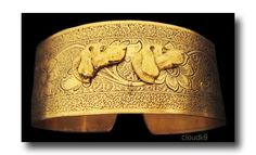 WEIMARANER CUFF BRACELET. Vintage Style Weimaraner / Vizsla Jewelry. Gifts for People Who Love Dogs. Signed Cloud K9 . Viszla Gifts for her. $49.95, via Etsy.