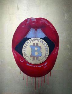 Kiss My Bitcoin, Sara Pope, exhibiting with @HawkinsandBlue at Moniker Art Fair October 15-18th #MAF2015 #Bitcoin