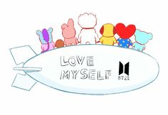 Love yourself because you are special.Our boys taught us that Bts Chibi, Bts Memes, Leprechaun, K Pop, Bts Bangtan Boy, Jimin, I Love Bts, My Love, Chibi Wallpaper