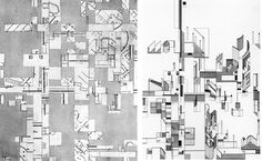 Daniel Libeskind's Early Collage Drawings - Collage Rebus 1 (1967)