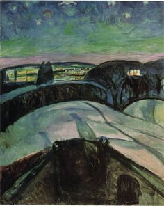 Starry night 1923 by Edvard Munch