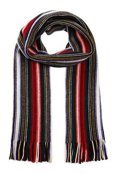 White Striped Cashmere Scarf on HauteLook