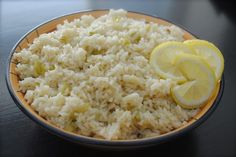 I made this lemon rice tonight to go  with my glazed sockeye salmon and asparagus dinner. It was very good