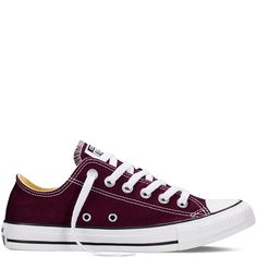 Converse - CT All Star Fresh Low Canvas Sneakers (Big Kid) - Black Cherry