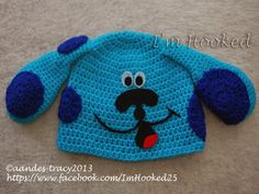 Blues Clues Hat (Free Pattern)    Crochet Blues Clues Hat Materials: Medium Worsted Weight Yarn Crochet Hook Sized H or 5.00 mm Tapestry Nee...