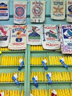 Vintage flour sacks from a private collection-at the MN State Fair Flour Sacks, Feed Sacks, Miniatures, Collection, Vintage, Vintage Comics, Minis