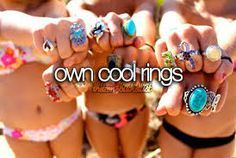 Own cool Rings | Summer Fun Ideas for Teens Bucket Lists