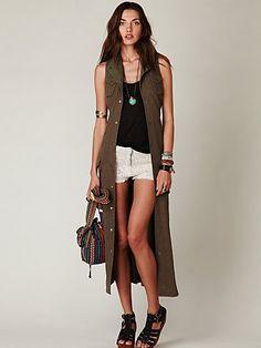 Knit Maxi Vest