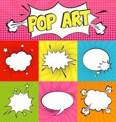 Set of Cartoon,Comic Speech Bubbles in Pop Art Style. Vector illustration for posters, social media banners, email and newsletter designs promotional material , Pop Art Vector, Vector Free, Comic Kunst, Comic Art, Comic Book, Pop Art Pour Les Enfants, Fiesta Pop Art, Bd Pop Art, Comic Cover
