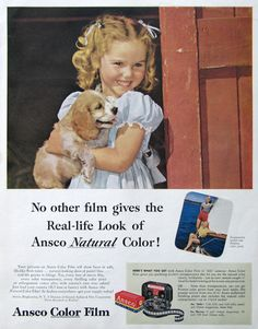 1953 Ansco Natural Color Film Ad No Other Film Gives the