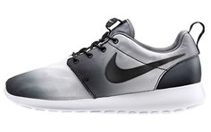 best authentic 12bc9 fdfc5 Nike Roshe Run Print Faded Noir Blanc Noir 43