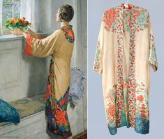RESERVED 1920s Kimono / 20s Tissue Silk Robe by GuermantesVintage