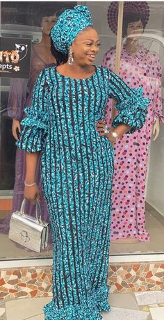 African Maxi Dresses, Latest African Fashion Dresses, African Print Fashion, African Attire, Lace Gown Styles, African Lace Styles, African Blouses, Kaftans, Ideas